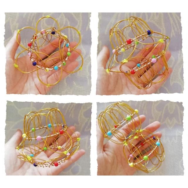 Adult Children Anti-stress Toy Mandala Decompression Toy Variety Flower Basket Thirty-six Softened Steel Ring Fidget Toy Gift 2