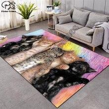 цена на Dog/cat carpet Nordic Rug Soft Flannel 3D Printed Rugs Parlor Mat Area Rugs Anti-slip Large Carpet Rug Living Room Decor D-007