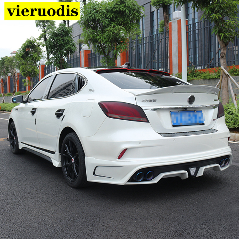 Fit For MG 6 <font><b>MG6</b></font> 2017 2018 <font><b>2019</b></font> ABS / Carbon Fiber Exterior Rear Spoiler Tail Trunk Boot Wing Decoration Car Styling image