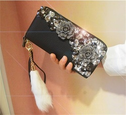 New womens wallets and purses genuine leather long fashion zipper wallet clutch bag card holder womens wallet retro coin purse