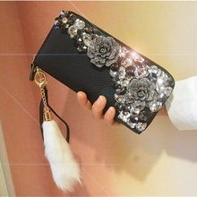 New womens wallets and purses genuine leather long fashion zipper wallet clutch