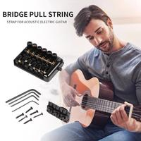 Luthier Devices 6 String Saddle Metal Durable Headless Electric Guitar Bridge Tailpiece Necessary Household Guitar Supplies
