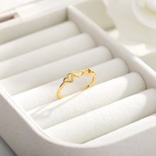 Romantic Hollow Out Three Heart Rings For Women Men Opening Toe Ring Anillos Mujer Gold Ring Couple Gift Jewelry Accessories BFF
