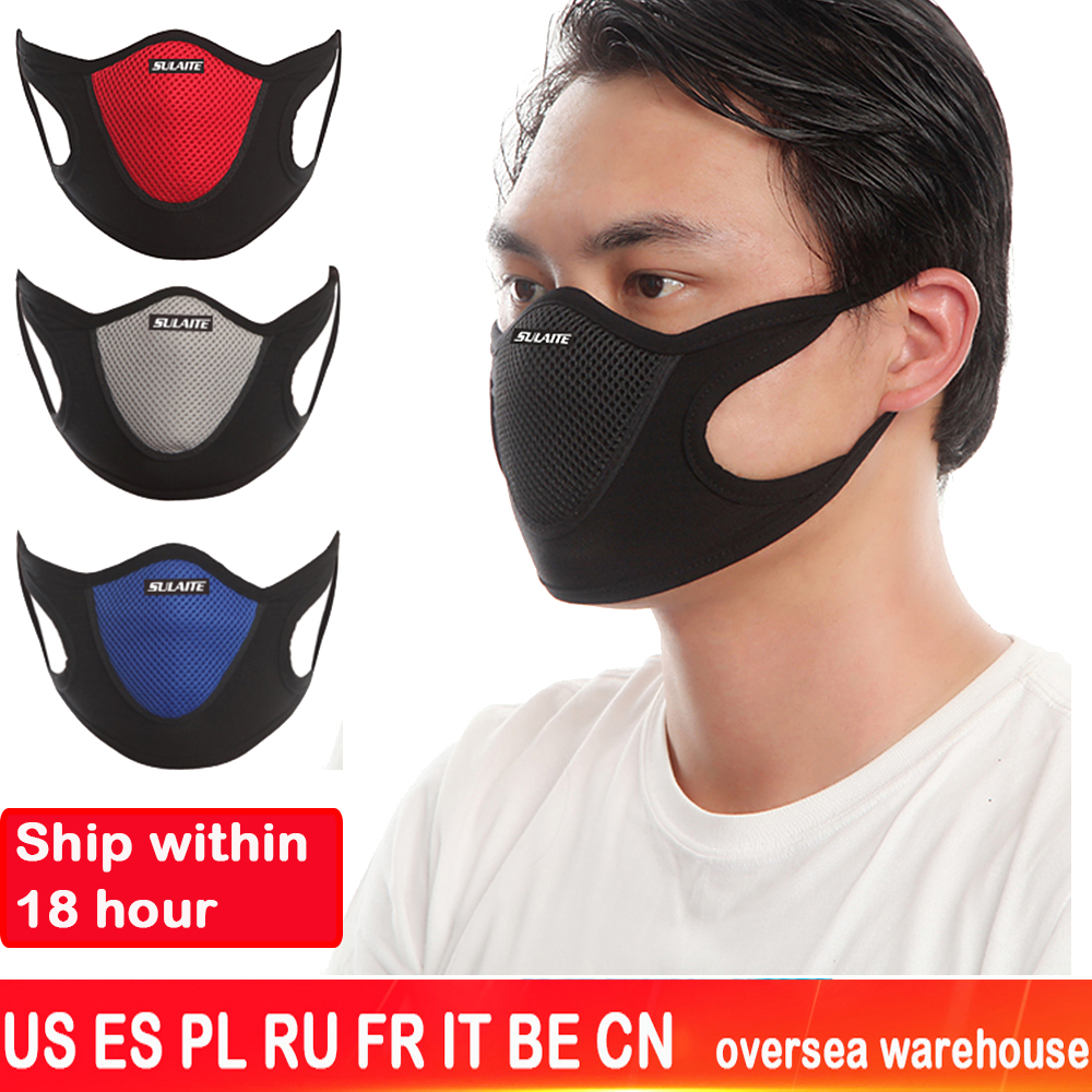 Black Mouth Mask Anti Dust Mask Activated Carbon Windproof  Bacteria Proof Flu Reusable Face Masks PM2.5 Anti Pollution