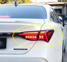 1 세트 비디오 자동차 범퍼 avalon 미등 테일 램프 + 방향 지시등 + 브레이크 + 역방향 2018 ~ 2020y avalon 후면 램프 용 자동차 액세서리