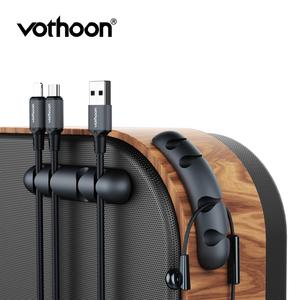 Vothoon Winder Cable-Holder Earphone Usb-Cable Silicone Mouse for Management-Clips Flexible