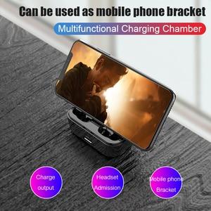 Image 5 - G6s Bluetooth 5.0 auricolare 8D auricolari Wireless Stereo Mini impermeabili con cuffia da 2200mAh Power Bank