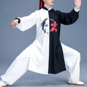 Image 3 - הסיני Taichi אחיד קונג פו בגדי אומנויות לחימה חליפת ביצועים חליפות וושו קונג פו תחפושת תלבושת טאי צ י בגדי FF2242