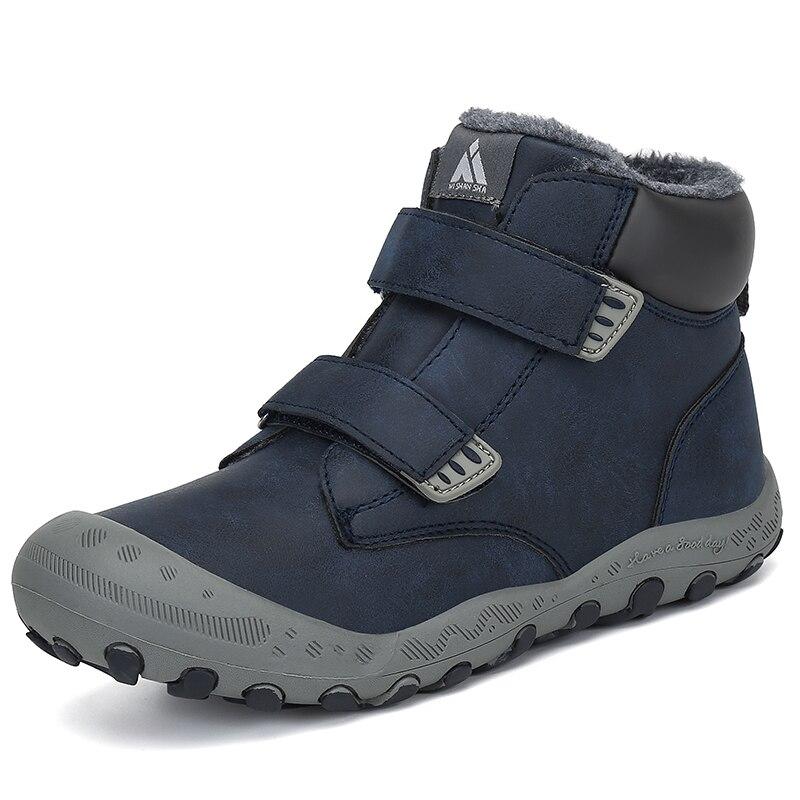 Inverno botas de neve meninos crianças botas ao ar livre tênis crianças botas de tornozelo quente de pelúcia meninas botas de algodão plana tenis infantil