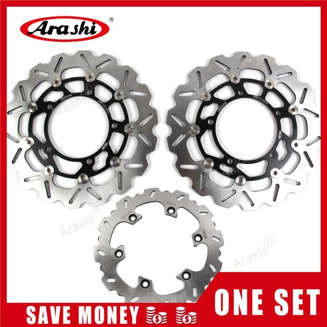 Arashi 1 Set Para SUZUKI GSXR 1300 08 15 CNC Frente Rear Brake Disc Rotores Hayabusa GSX R GSX1300R 2008 09 10 11 12 2013 2014 2015