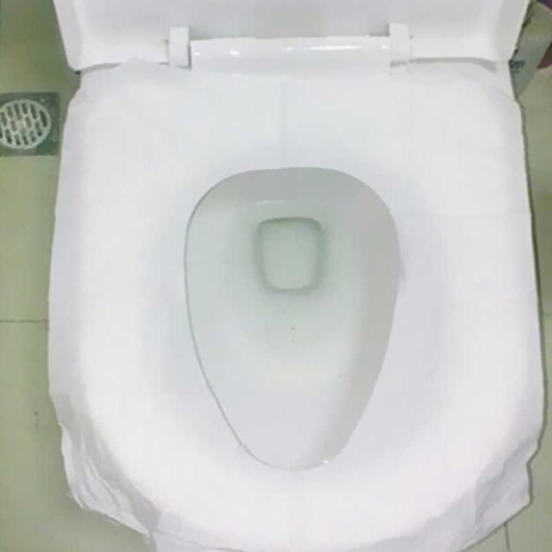 10 قطعة/الوحدة السفر غطاء مقعد حمام قابل للإستخدام لمرة واحدة فقط Wc حصيرة 100% مقاوم للماء ورق التواليت وسادة اكسسوارات الحمام مجموعة