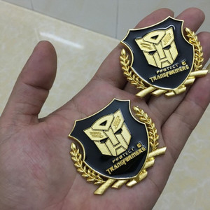 Image 2 - Metal  VIP Transformers 3D Car Sticker Individual  for car auto window tail car body decoration car styling