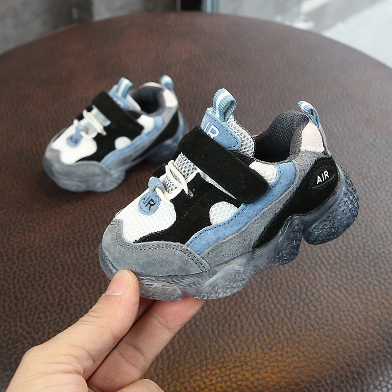 2019 Spring New Kids Baby Shoes Soft Non-slip Infant First Walkers Mesh Breathable Baby Sneakers Toddler Shoes For Girl Boy image