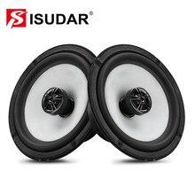 ISUDAR SU601C coche Coaxial altavoces 2 uds 6,5 pulgadas 2 puerta del vehículo Audio de coche estéreo Frecuencia de rango completo HiFi altavoz RMS 40W