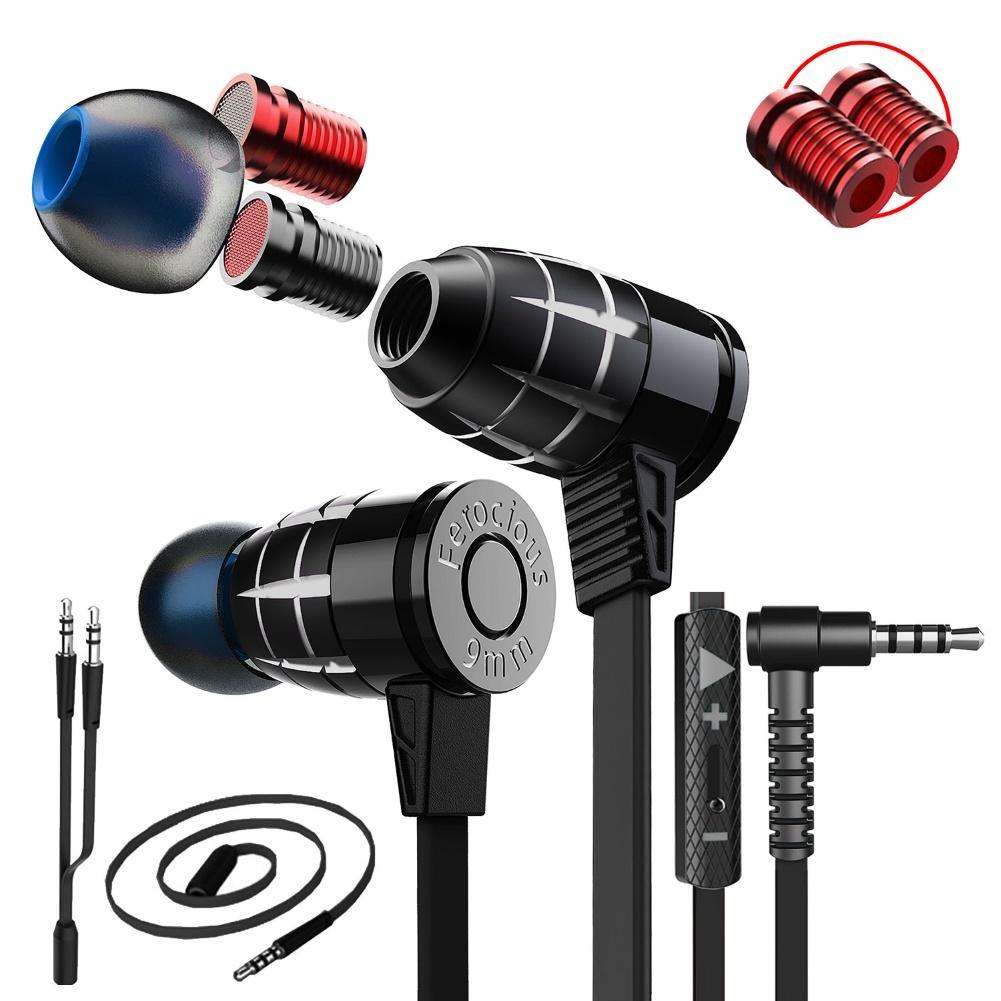 Auriculares estéreo con forma de bala para juegos, audífonos con diseño de esponja de memoria, Plextone G25, 3,5mm, con cable, para PC y teléfono