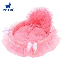 Pet soft Pet Dog and Cat Bed Pet Cat Puppy Princess Bows Lace Heart Elegant Lovely Bed Doghouse Pet Warm Bed Pet House Bed
