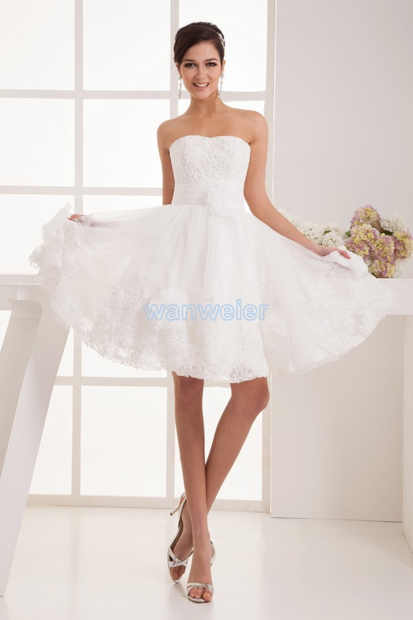 Free Shipping 2016 Design Hot Sale Off The Shoulder Fashion Bride Married Short Custom Size/color White Lace Bridesmaid Dress
