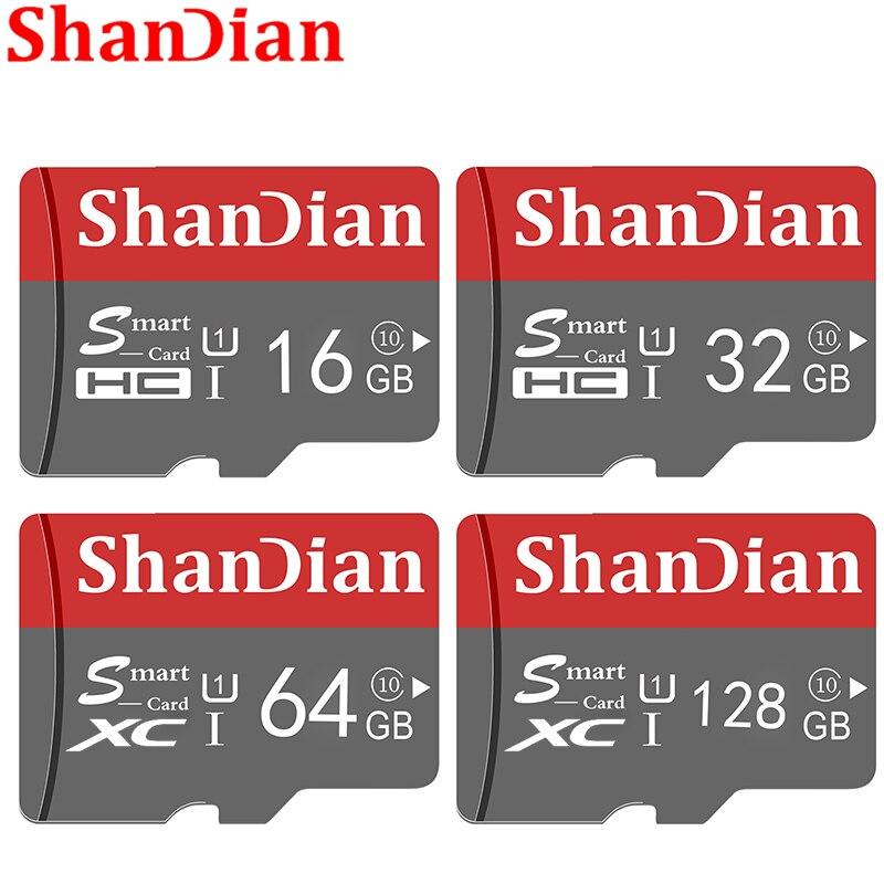 SHANDIAN смарт-карта памяти, класс 10, 16 ГБ/64 ГБ, 128 ГБ