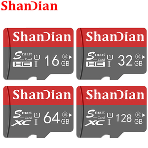 SHANDIAN Smart SD Card 32GB High Speed Class 10 16GB/64GB Real Capacity 128GB Mini SD Memory Card TF Card for Smartphone