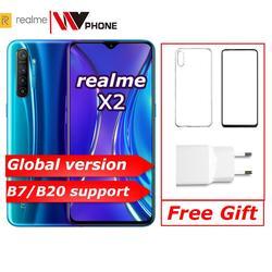 Realme x2 versão global moblie telefone 6.4 snapsnaptela cheia snapdragon 730g 64mp câmera nfc 30 w carregador rápido oppo celular vooc
