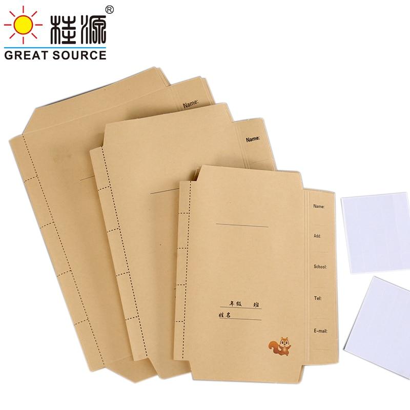300g Kraft Book Cover Environment Friendly Bookcover A4/B5/A5 Book Cover(10pcs)