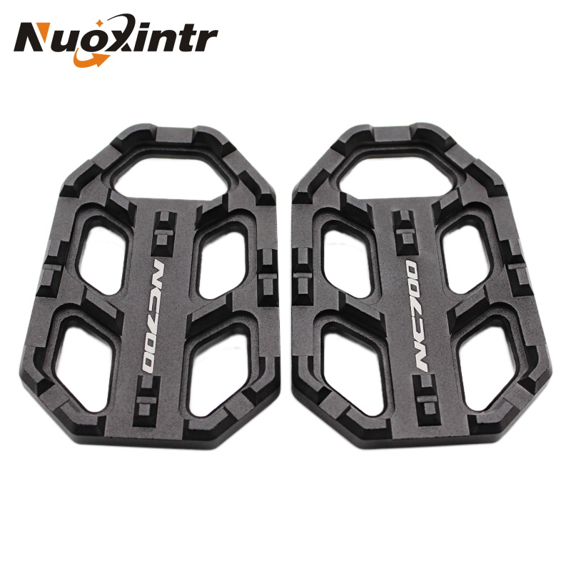 Black Silver Aluminum Motorcycle Foot Pegs FootRests Footpegs For HONDA NC700 NC 700 NC750 NC 750 NC750X NC750 X NC750S NC750 S