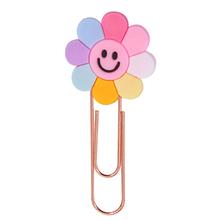 strong Import List strong 1 sztuk uroczy kwiat Metal różowe złoto modelowanie spinacz styl pani z urzędu szkolnego papiernicze zdjęcie dekoracyjne dostaw papeterii tanie tanio Lytwtw s JZ003 paper clip