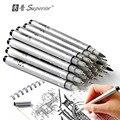 10 pièces croquis aiguille dessin stylo étanche Pigment fin Liner Gel stylo ensemble professionnel marqueur crochet Signature stylo pour pour pour l'école