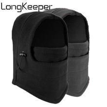 LongKeeper Winter Fleece Beanies Hats Hooded Neck Men Women 2019 New Warm Balaclava Windproof Face Mask Helmet Masked cap цена