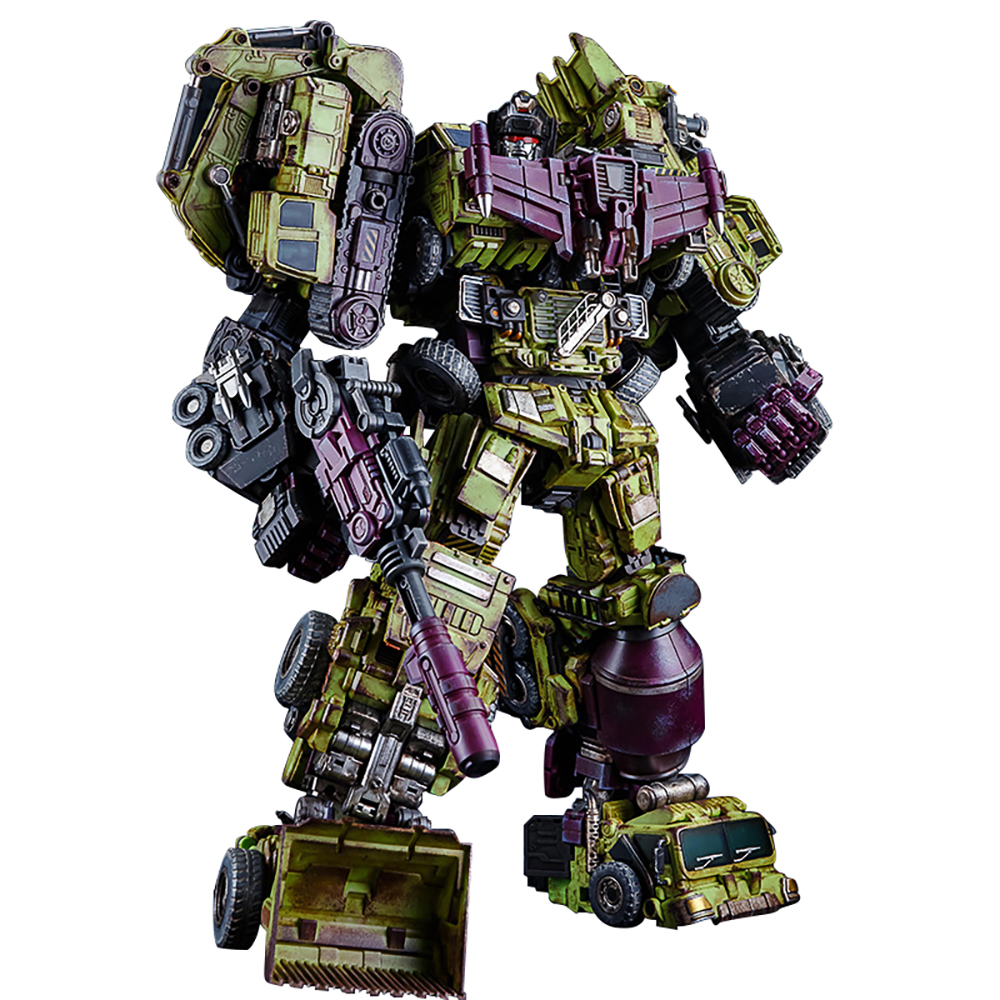 JIN BAO GT G1 Transformation Action Figure Toy Devastator Model 45CM ABS Battle Damage Version KO Oversize Deformation Car Robot