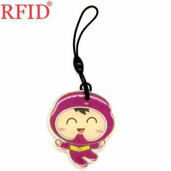 ID 125khz T5577 T5557 T5200 Rewritable Writable RFID Card Keyfob Cartoon Waterproof Keychain Token Tag Access Control Card 1pcs image