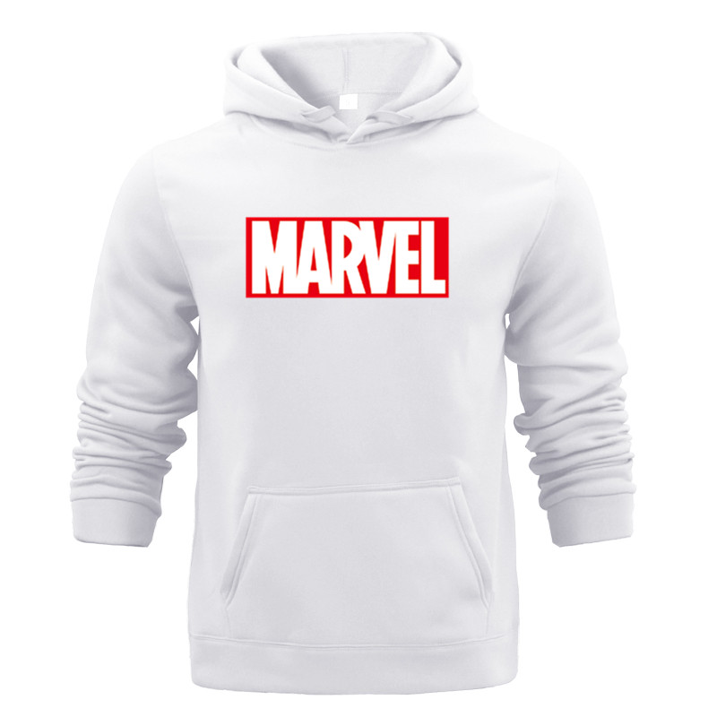 Winter Sweat Warm Woman Men Hoodies Hooded Joker Marvel Sweatshirts Light Tops Wear With Pocket Pullover All-match Print Fleece