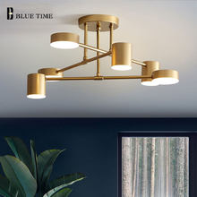 Gold Black Modern Led Chandelier Lustre Led Ceiling Chandelier Lamp for Bedroom Living room Dining room 110V 220V Light Fixtures