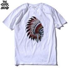 O coolmind manga curta indiano impresso camiseta masculina legal camisetas camisetas masculinas camisetas 2016 100% algodão casual camisas dos homens t