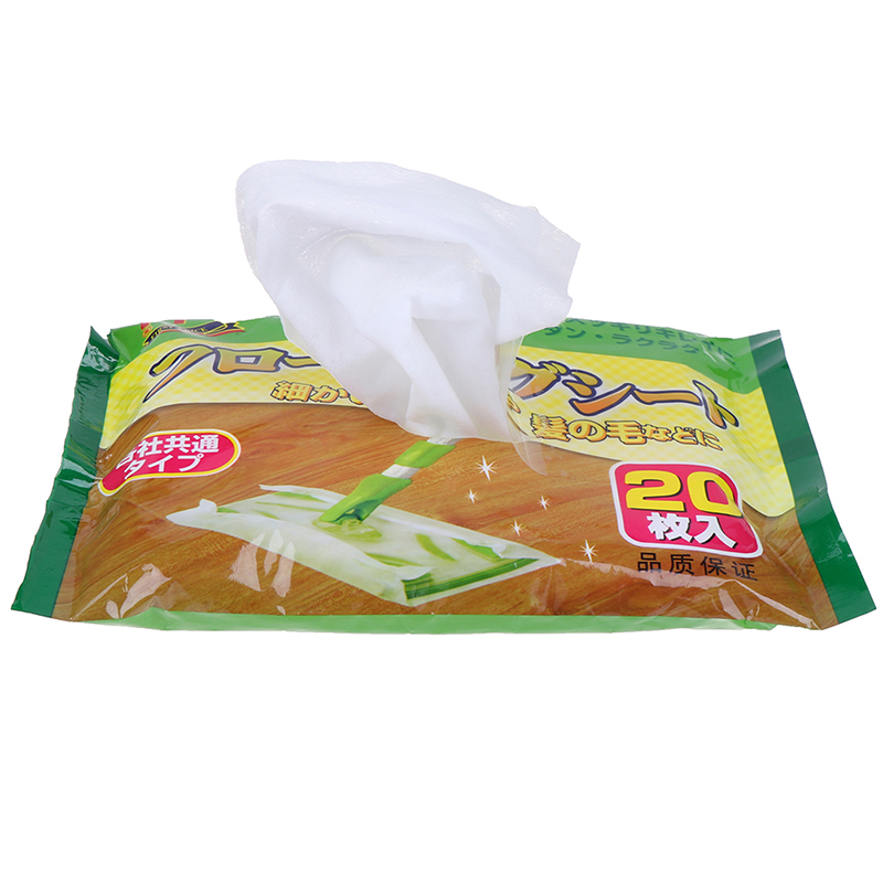 20pcs/bag Disposable Microfibre Electrostatic Floor Cloths For Flat Mop Multi Fitting Cleaning Wipes Dust Removal Mop Paper