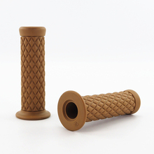 2Pcs 7/8 22mm Motorcycle Rubber Handlebar Rubber Handlebar Hand Grip Bar End For Motorcycle Bike Cafe Racer Car Styling vodool 2pcs rubber motorcycle grip 22mm motorcycle vintage handlebar grip for all motorcycle high quality cars styling