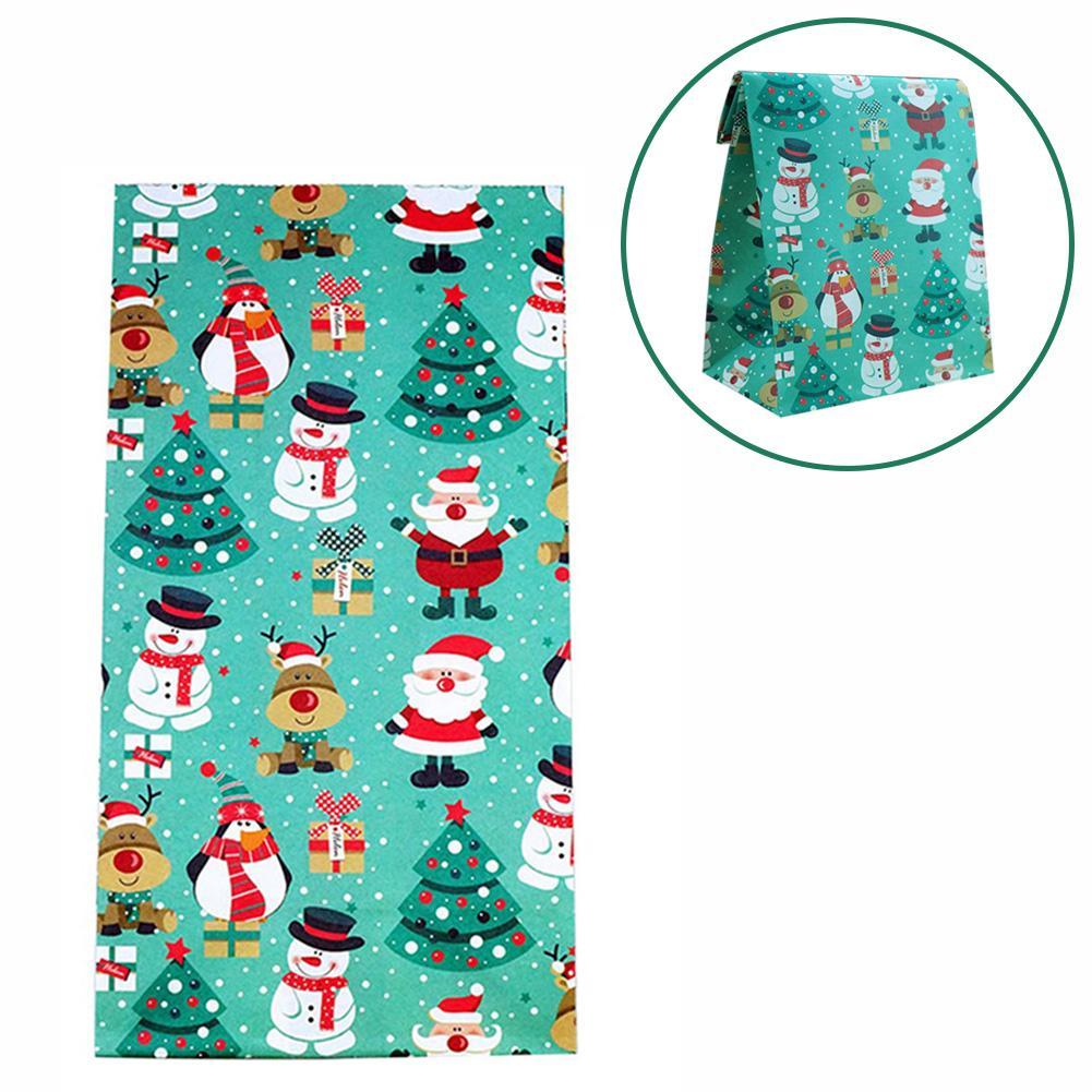 2020 Рождественский Санта снеговик медведь Лось Пингвин Подарочная сумка Puoch Рождественская стойка для конфет новые продукты зеленый подарочный пакет