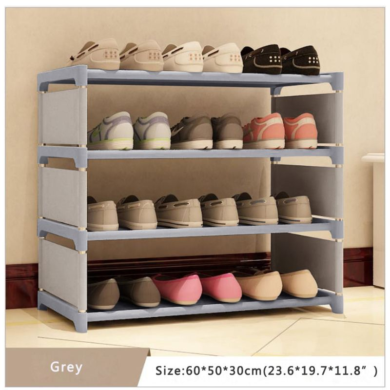 Shoes Rack Organizer Shelf 4-Tier Shoe Tower Shelf Storage Cabinet Nonwoven Shelf