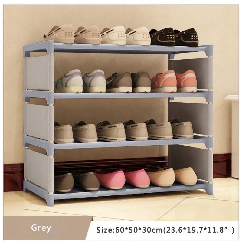 Shoes Rack Organizer Shelf 4-Tier Shoe Tower Shelf Storage Cabinet Nonwoven Shelf