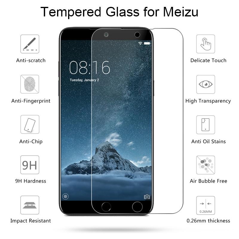 Screen Protector For Meizu 16 Plus 15 Lite E2 E Tempered Glass For Meizu 16XS 16T 16S Pro Protective Glass 9H HD Film