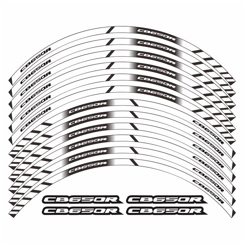 Motorcycle Sticker Inner Wheel Stickers Rim Reflective Decorative Decals For Honda Cb650r