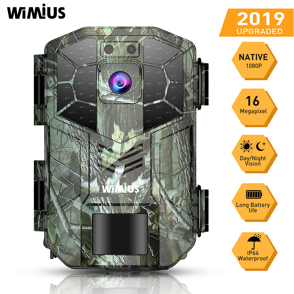 WIMIUS H5 Photo Camera Trail 16MP 1080P 40pcs IR Leds Hunting Camera IP66 Waterproof Motion Sensor Night Vision Wild Camera