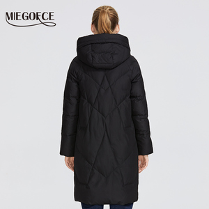 Image 4 - MIEGOFCE 2019 Women Winter Parka Femme Windpro Coat With Stand Up Collar and Hood That Will Protect From The Cold Womens Jacket