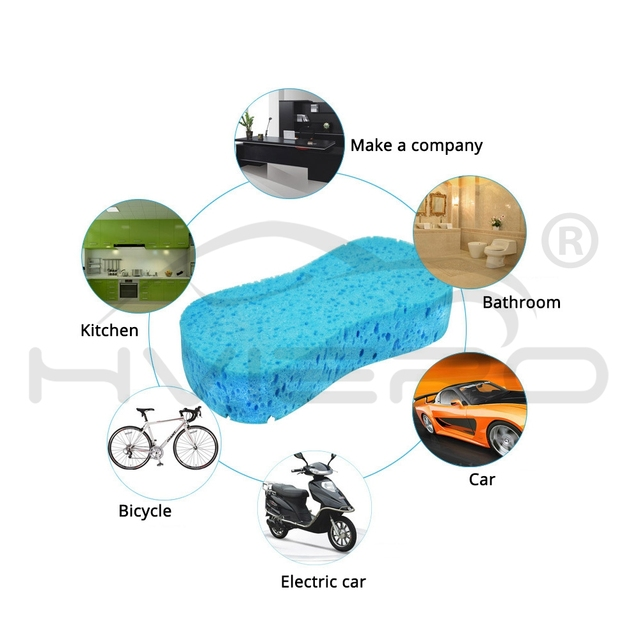 Auto Car Washing Sponge Wash Auto Paint Care Paint Cleaner Care Shampoo Multipurpose Cleaning Tool Compressed Water Absorption