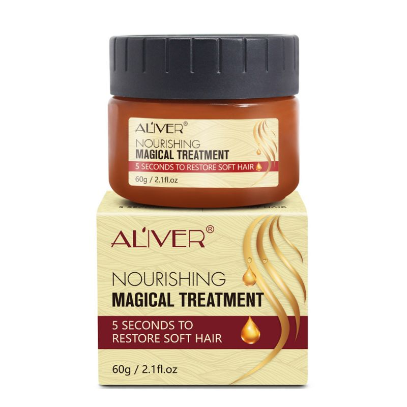 Magical Hair Treatment Mask 5 Seconds Repairs Damage Restore Nourishing Hydrating Soft Hairs 60ml For All Types Keratin Scalp