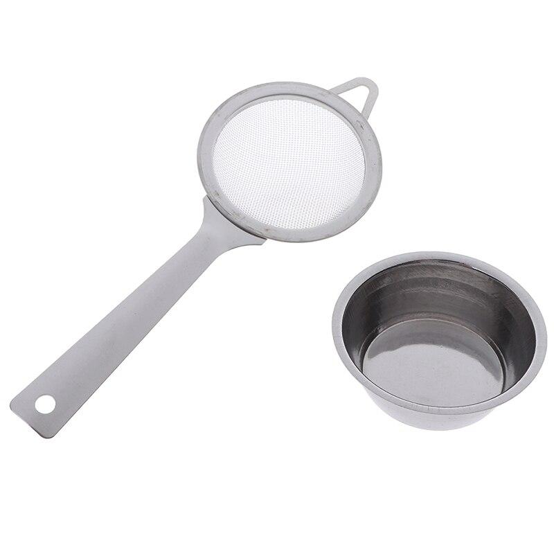 1 Set  Mesh Tea Infuser Metal Cup Strainer Loose Leaf Filter With Handle
