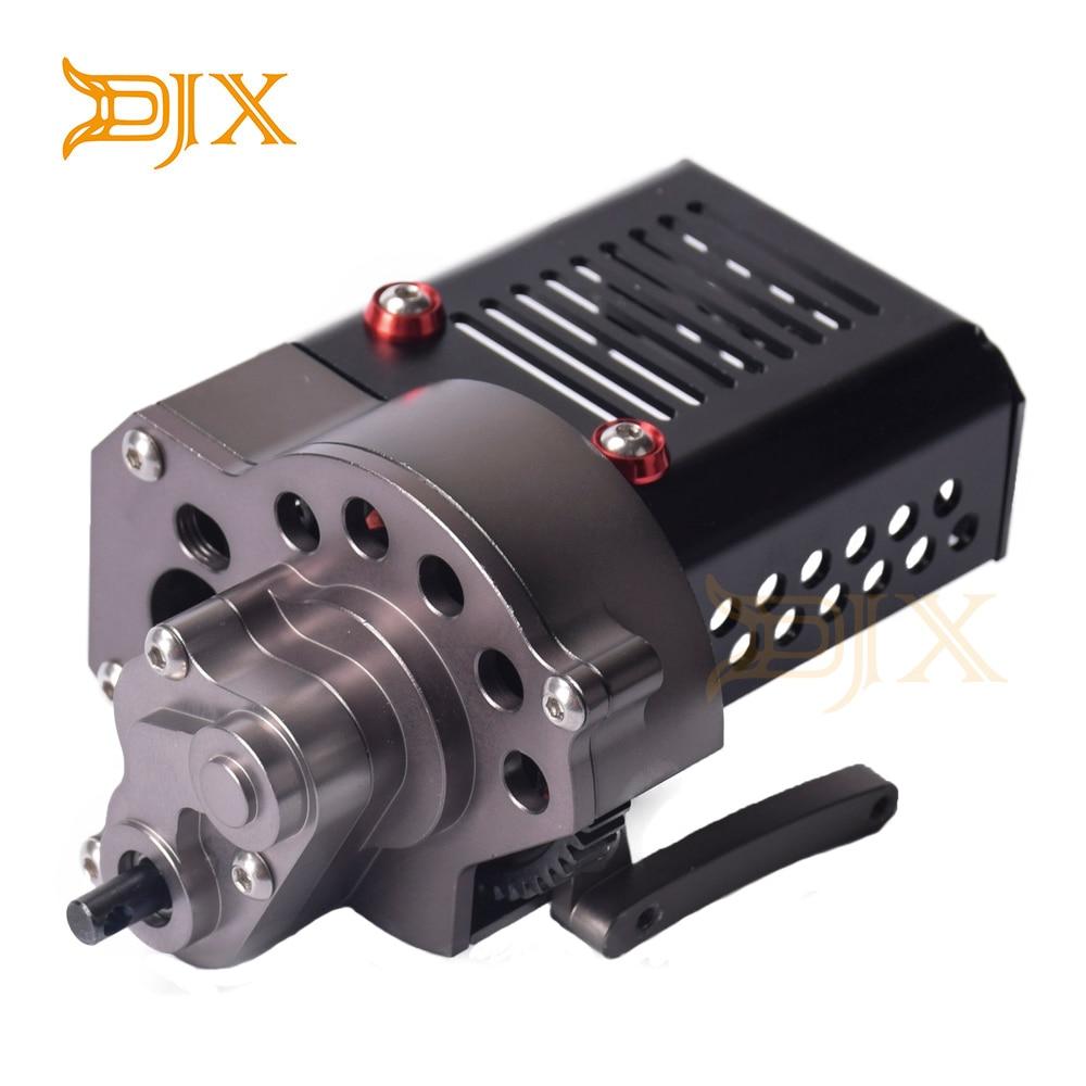 Boîte de Transmission de boîte de vitesses avant complète DJX CNC avec engrenage pour voiture sur chenilles axiale SCX10 1/10 RC