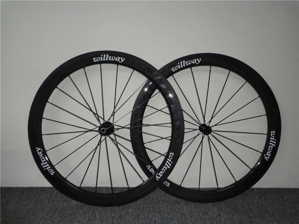 50mm Carbon Road Bike Wheels 700c 50mm Carbon Wheelset 700c Clincher Wheels Bike Road