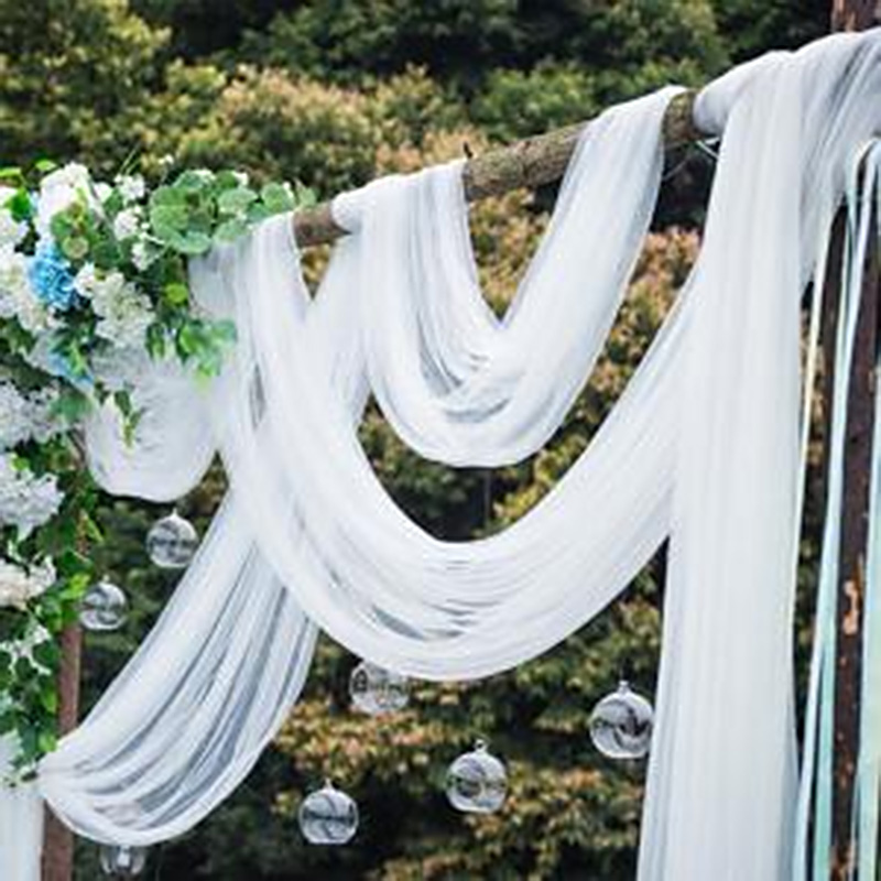 5/10meters Tulle Roll Wedding Table Decoration Crafts Spool Tutu Birthday Gift Wedding Decoration Party Organza Curtains White 6