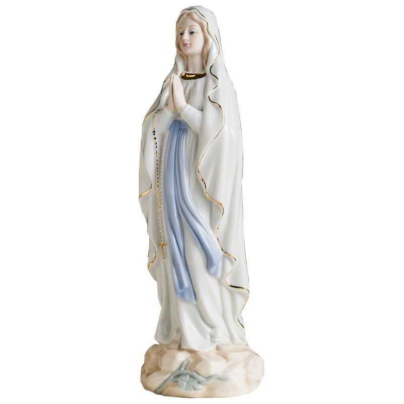 Aziz meryem Madonna heykeli şekil ev dekor heykelcik dekorasyon
